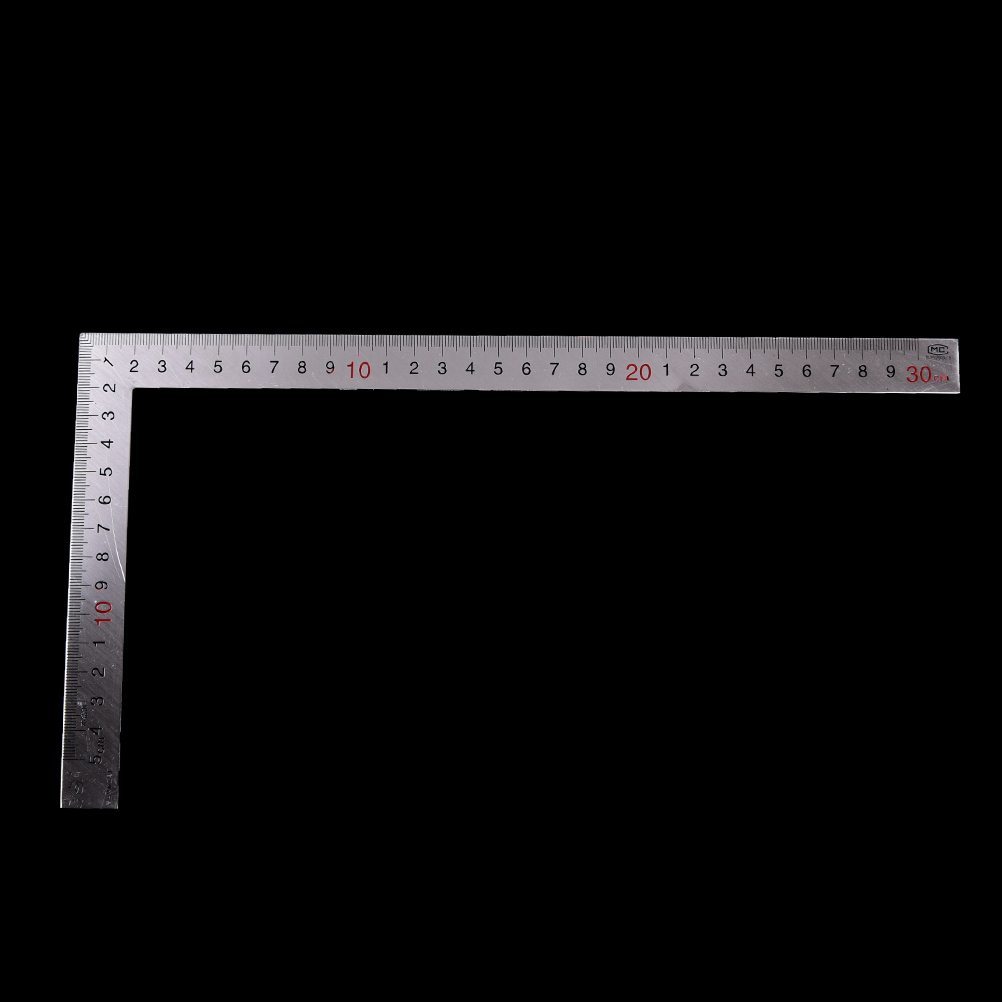 New Stainless Steel 150 X 300mm 90 Degree Angle Metric Try Mitre Square Ruler