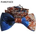 Бесплатная доставка! 2016 Новый дизайн! Высокое качество Мужчины галстук-бабочку. Африканский Джентльмен Свадьба бантом. Синий Bowties. Дамы Шеи Галстук-Бабочку