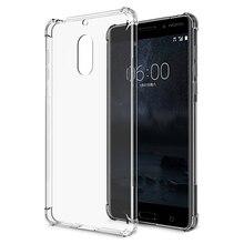 Air Cushion Phone Case for Nokia 1 2 3 5 6 7 8 9 Plus X6 Slim Soft Silicone TPU Clear Crystal Back Cover Shockproof Capa Coque чехол nokia 2 slim crystal case transparent cc 104
