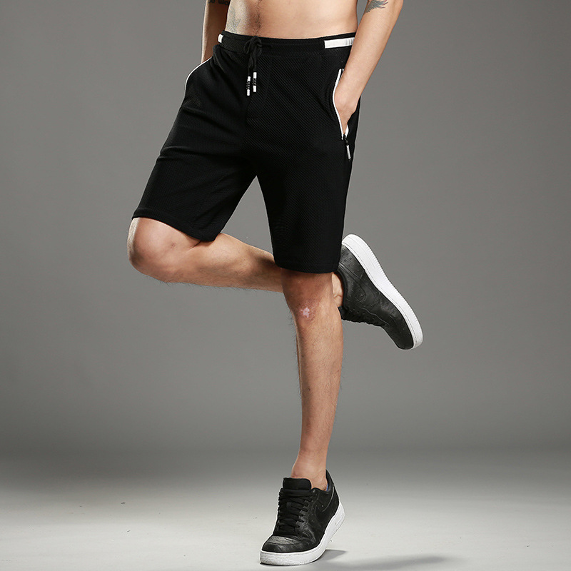 Men Shorts Summer Plus Size Cotton Elastic Waist straight black knee length Male Cargo Shorts For Man Casual Short-Pants