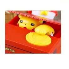 цена на Cute creative children money box creative piggy bank music cartoon Pikachu change pot to eat money piggy bank c