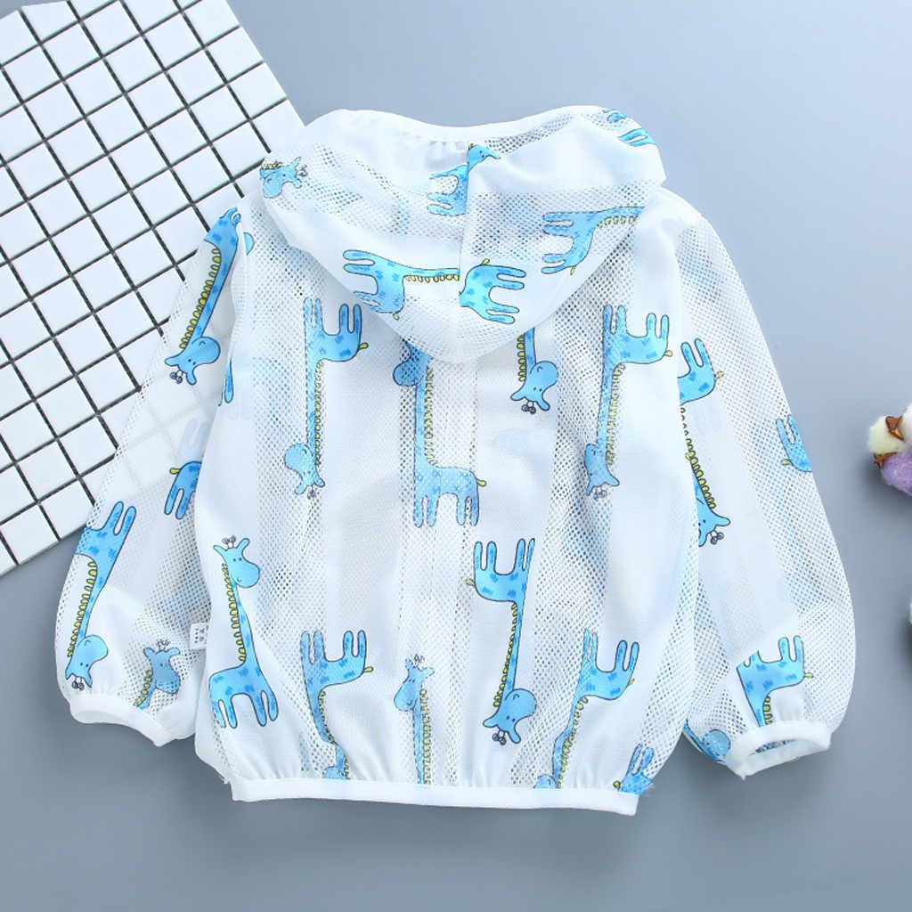 Куртка для маленьких девочек пальто с капюшоном для мальчиков Солнцезащитная одежда для малышей, куртка летняя детская одежда с длинными рукавами для маленьких мальчиков и девочек верхняя одежда 2019
