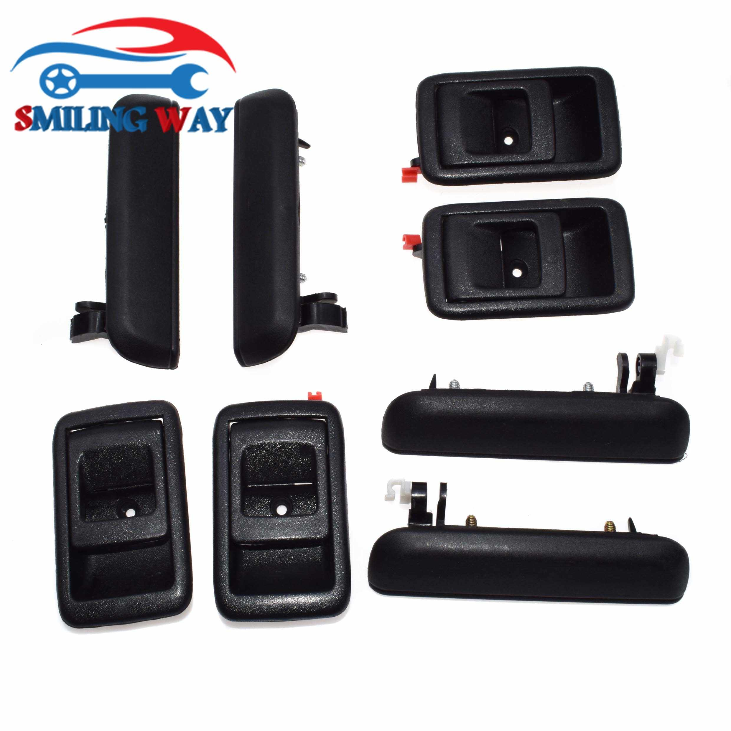 Smiling Way 8pcs Black Inside Outside Door Handle Front Rear Left Right Set For Toyota Tercel 1995 1996 1997 1998 Aliexpress