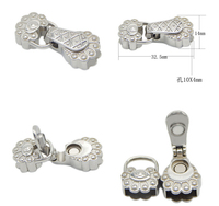 1 Set Stainless Steel Silver Bracelets Clasps Buckle For DIY Necklace Jewelry Making End Caps Connectors