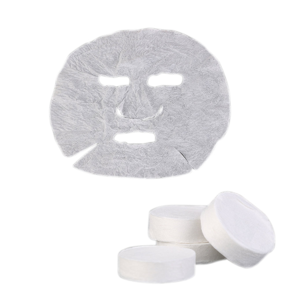 100 Pcs Non-woven Fabric Compress Facial Mask Acne Tender Whitening Moisturizing Paper Face Skin Care DIY Masks Beauty Tools diy paper pulp female doodle mask white 3 pcs