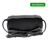 New 48V 60AH Charger AGM Sealed Lead Acid Electric Bicycle Scooter Charger Smart Power Supply Adapter 48V 7A 220V/50Hz