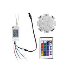 1pcs 28mm COB Chip Round LED RGB Light Source With LED Driver For Spotlight Downlight Ceiling Lamp Lighting 300mA JQ