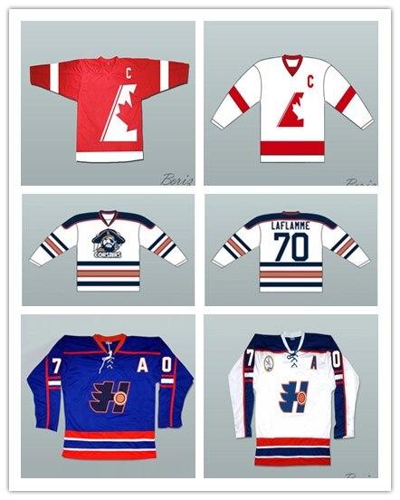 Custom XS 5XL Xavier LaFlamme 70 Montreal Corsairs Hockey Jersey ... 91fffcb358f