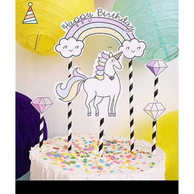 Unicorn Miss Mrs Tower Love Happy Birthday 18 Cake Topper Wedding