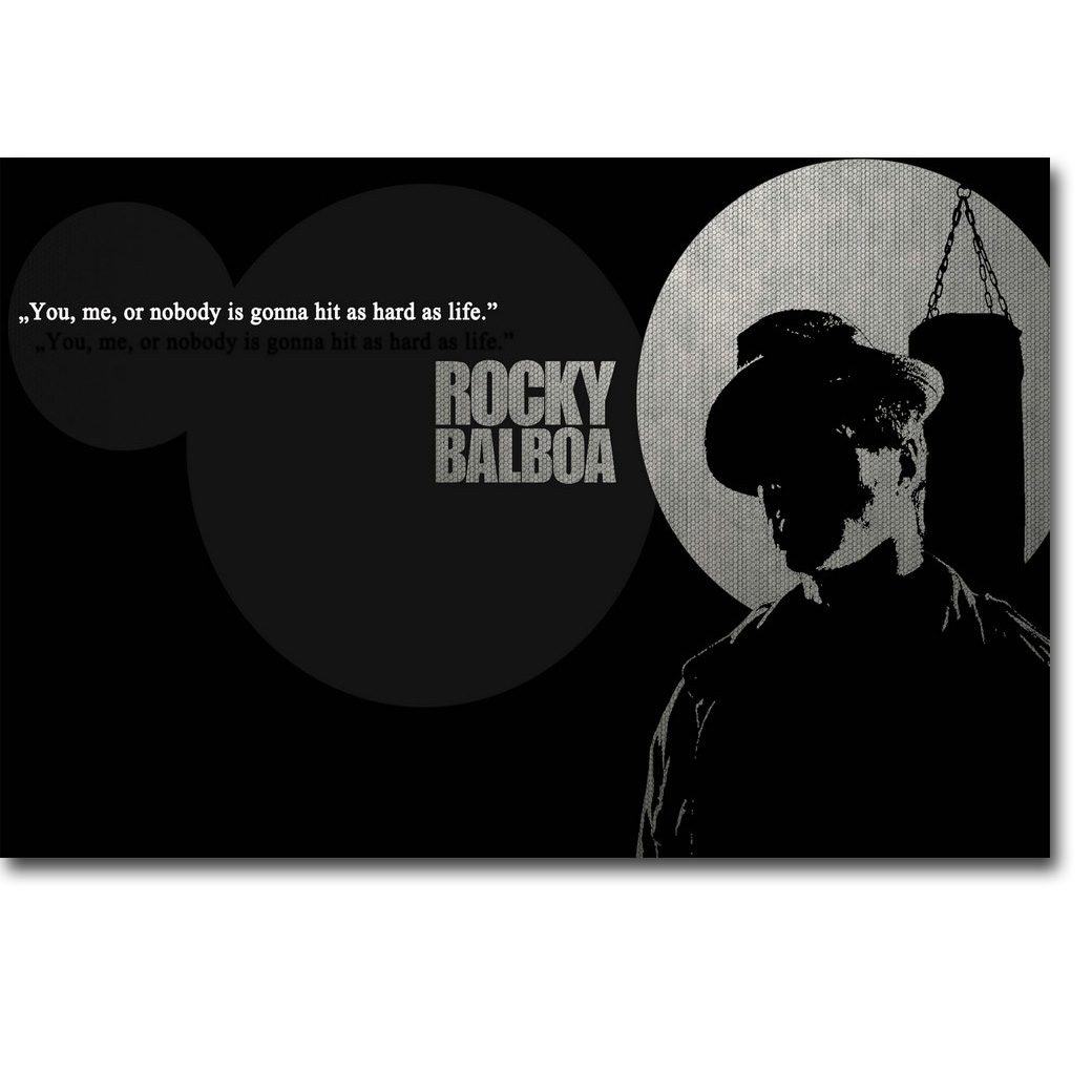Us 4 91 18 Off Rocky Balboa Motivational Quote Art Silk Poster Print Inspirational Movie Sylvester Stallone Picture For Room Wall Decor 015 In
