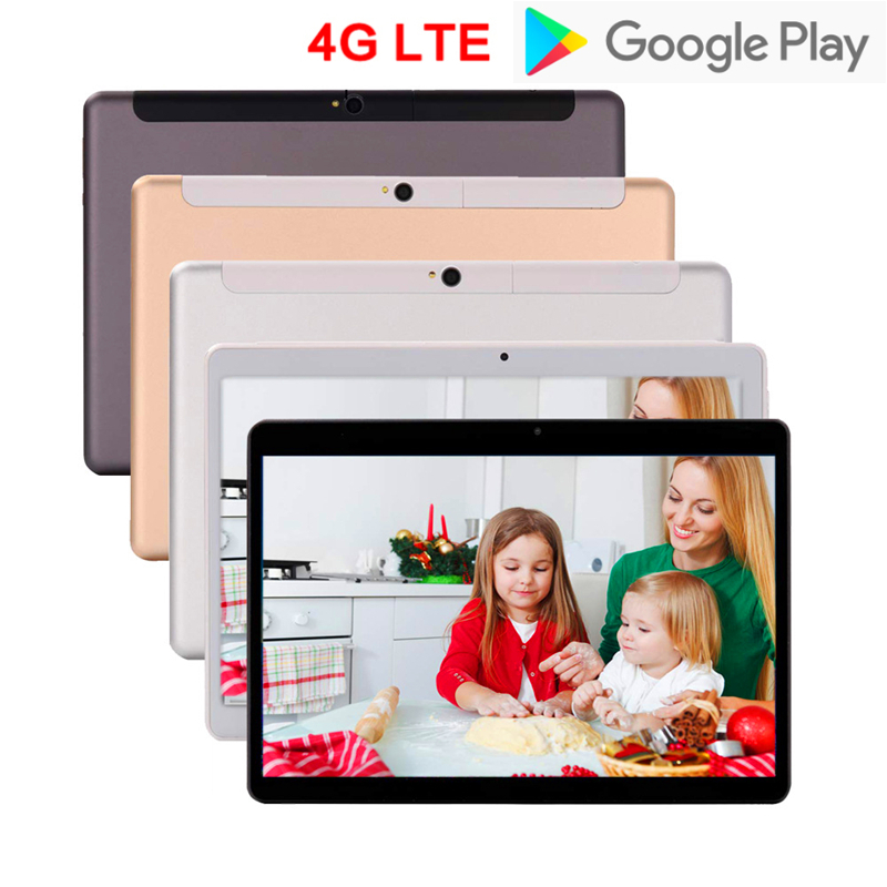 Tablets 10 Inch Tablets Android 8.1 Ten Core 4GB+64GB 1920*1200 IPS Dual 4G Phone Call Tablet WiFi Android Tablet For Children