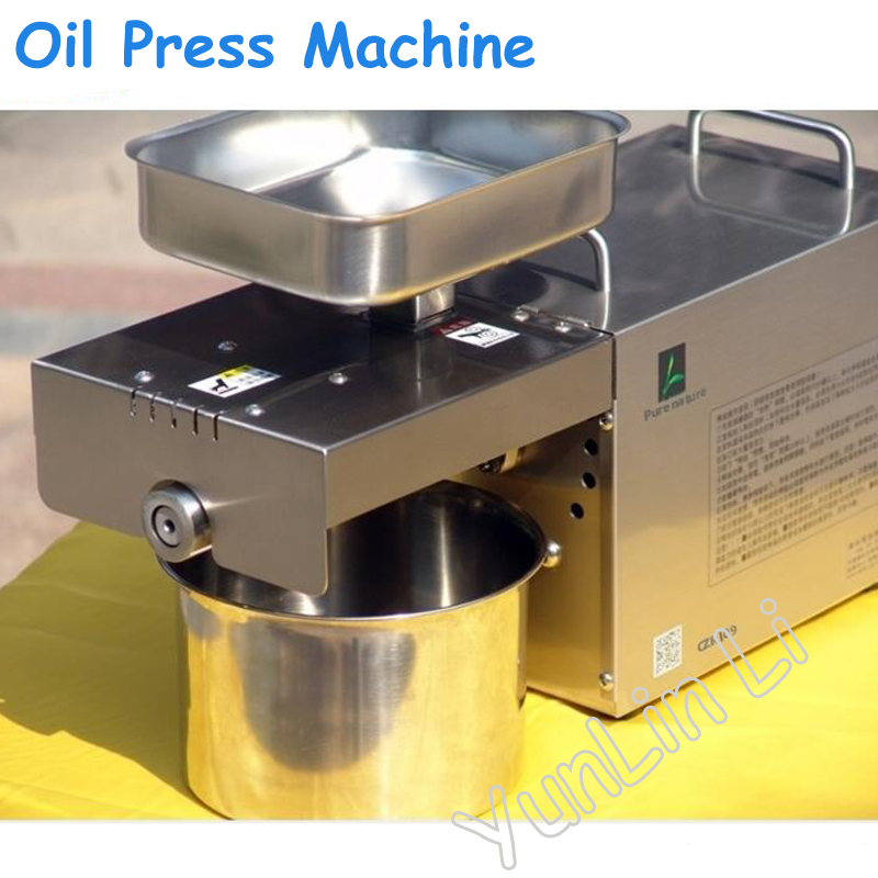 Automatic Oil Press Machine Nuts Seeds Oil Press Pressing Machine All Stainless Steel 110/220V High oil Extraction Rate best price 220v hot and cold home oil press machine peanut soy bean cocoa oil press machine high oil extraction rate for sale