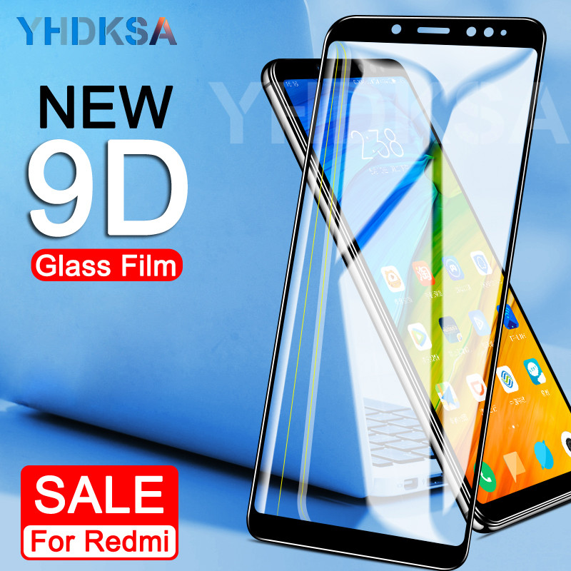 9D Tempered Glass On The For Xiaomi Redmi 5 Plus S2 4X 5A Redmi Note 4 4X 5 5A Pro Screen Protector Protective Glass Film Case
