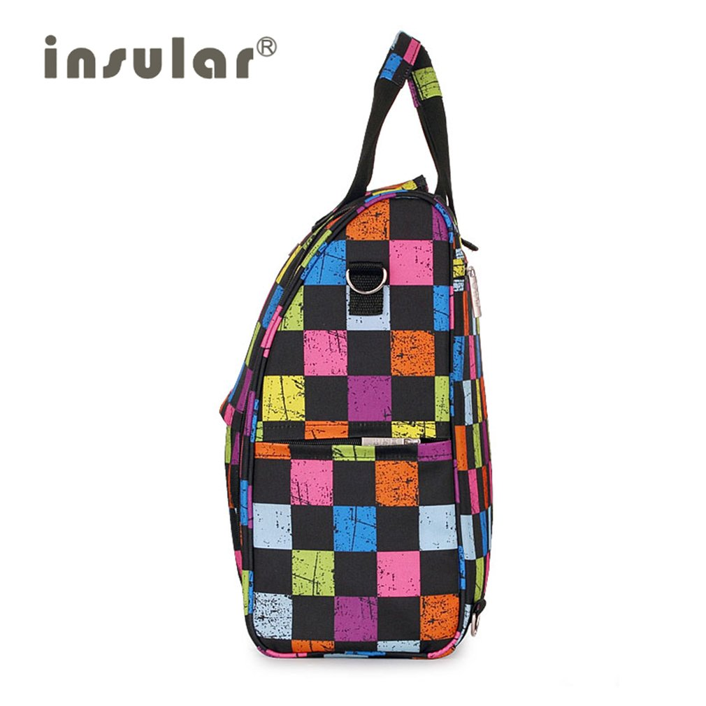 INSULAR Baby Diaper Bag Waterproof Large Capacity Mommy Backpack Baby Carrycot Crib Bag with Recoverable Shoulder Strap Portable