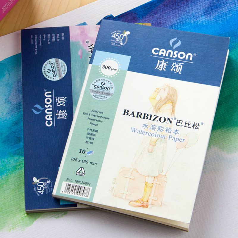 300g/m2 Watercolor Drawing Paper 10Sheet Postcard Size Pocket Hand Painted Painting Water-soluble Book Pad For Artist Student