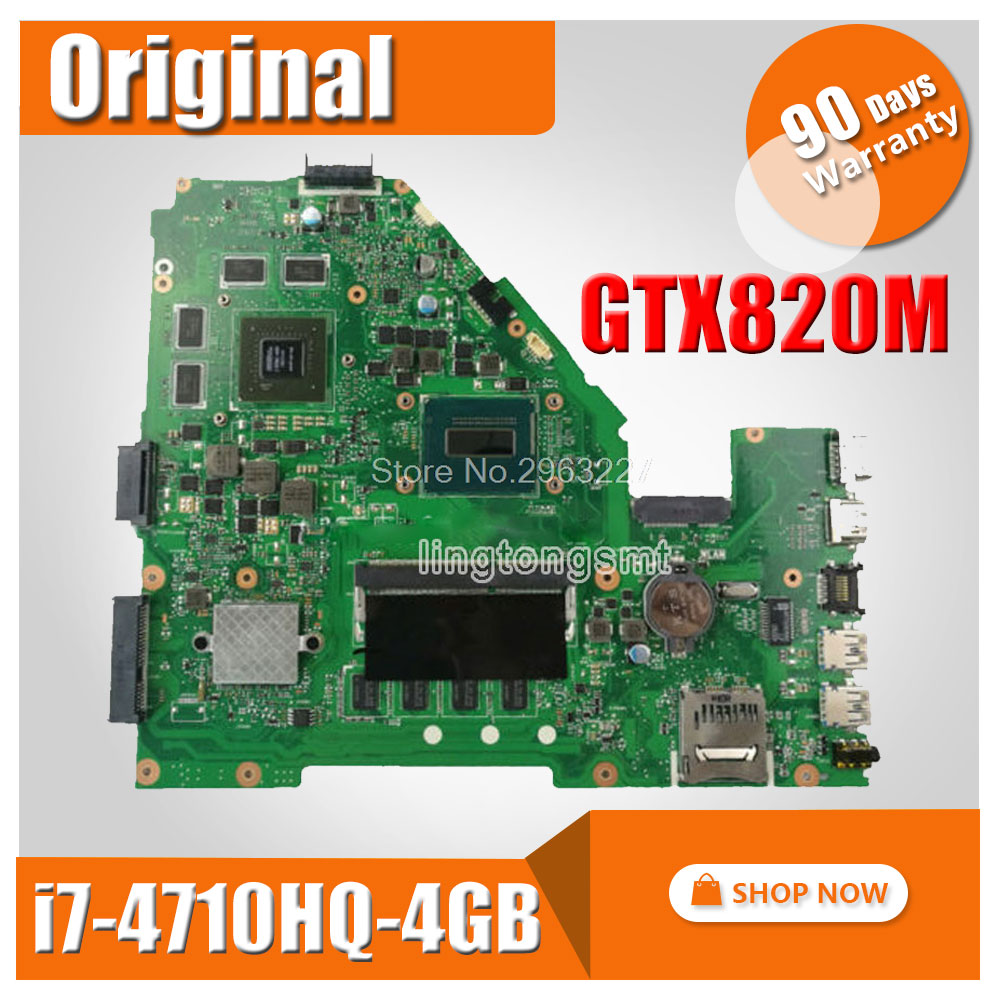 X550JD i7 4710HQ 4GB GTX820 For ASUS X550JK X550JD ZX50J X550J A550J FX50J X550JX FX50J Laptop