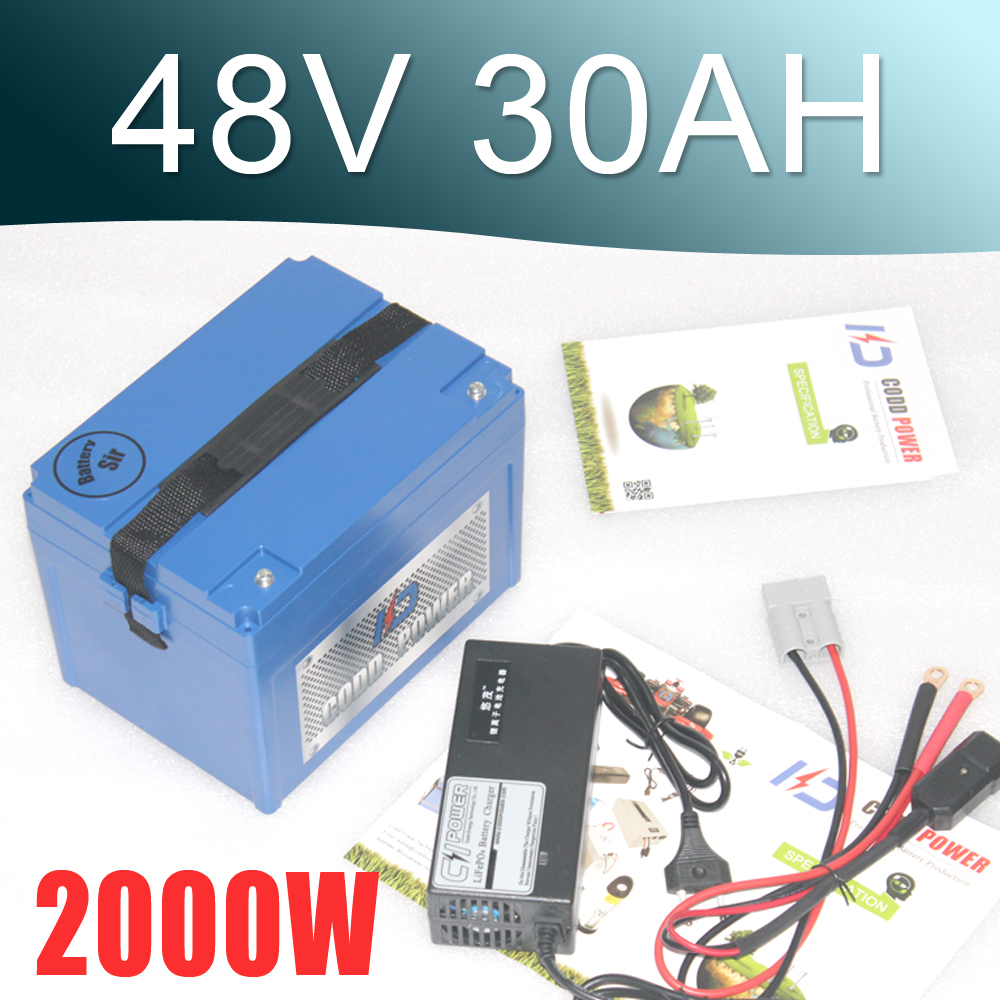 48V 30Ah Lithium battery Electric bike and Electric Bike Coversion Kit Including Charger electric bike battery 48v 30ah triangle lithium ion ncr18650pf 48v 1500w free 6a charger shipping and duty