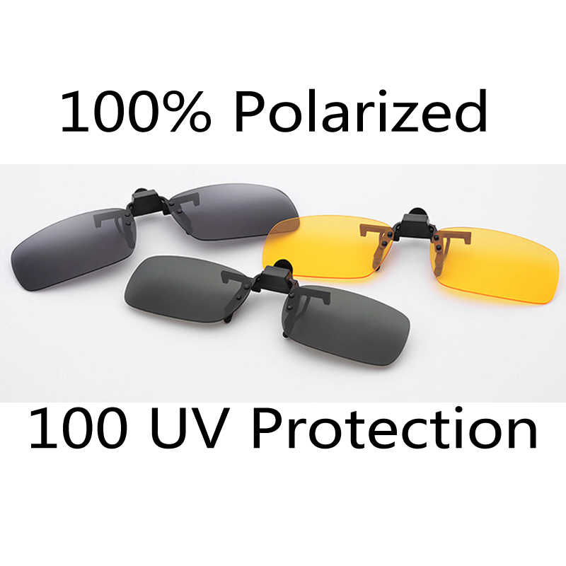 2bcbe15420 Polarized 3 Colors Lens Day Vision Sunglasses Clip For Night Driving  Eyeglass Myopia sun Glasses Clips
