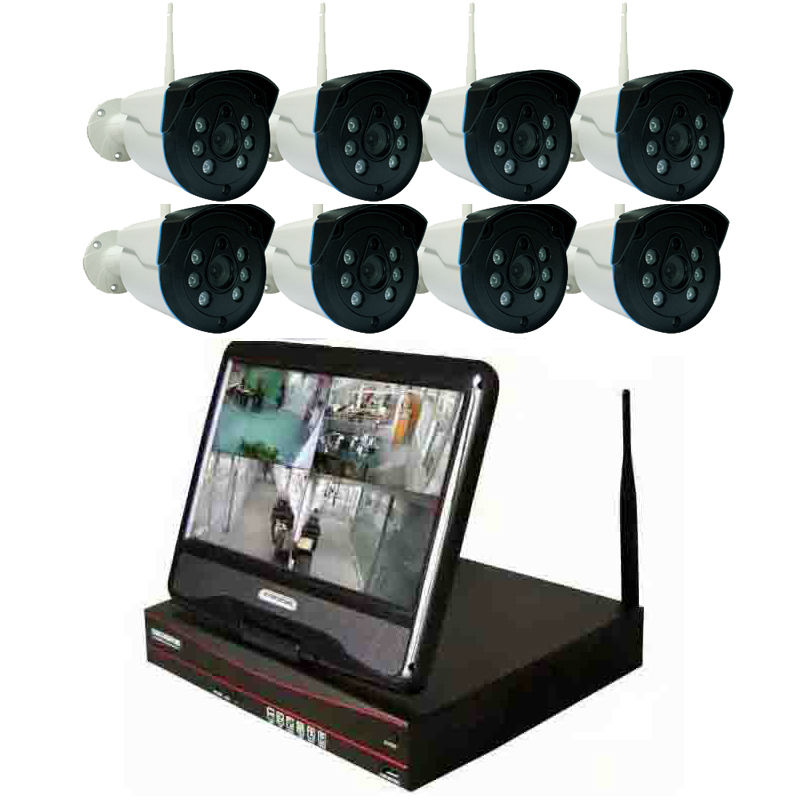 8CH Surveillance system 720P Wireless NVR Kit P2P With 8PCS IP Camera  IR Outdoor Camera System8CH Surveillance system 720P Wireless NVR Kit P2P With 8PCS IP Camera  IR Outdoor Camera System