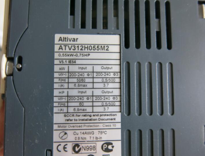 Inverter  ATV312H055M2 0.55KW  200-240V   , Used one , 90% appearance new ; 3 months warranty ; in stock,Inverter  ATV312H055M2 0.55KW  200-240V   , Used one , 90% appearance new ; 3 months warranty ; in stock,