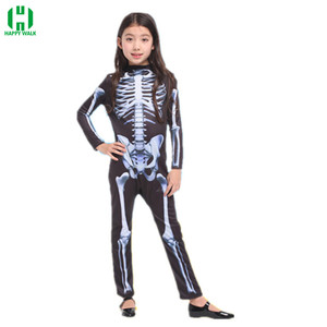 Image 4 - Halloween Horror Skeleton Cosplay Costume Masquerade Children Adult Men and Women Products Costumes fancy dress Play Party