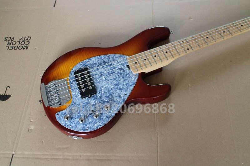 music man bass stingray 5 strings vintage sunburst electric bass guitar with 9v battery. Black Bedroom Furniture Sets. Home Design Ideas