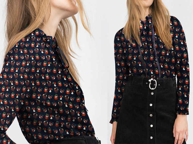 Модная шелковая ткань с принтом, мягкое шелковое платье, шелковая ткань с фруктовым принтом, шелковая ткань из чистого шелка