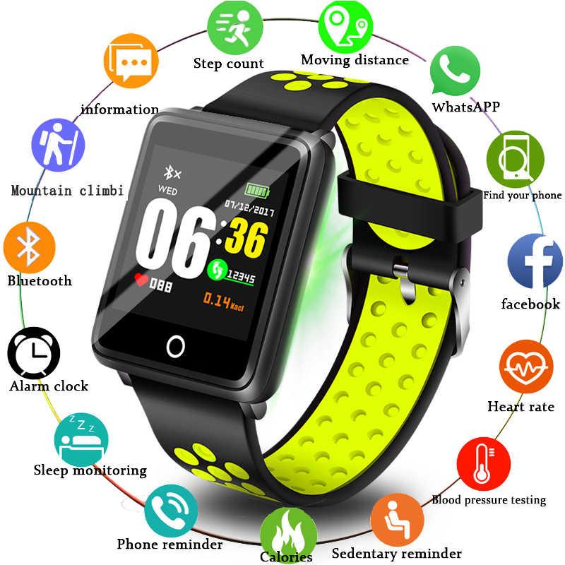 Ini 2019 Baru Pria Wanita Olahraga Watch Kebugaran Tracker Pedometer Tekanan Darah Denyut Jantung Darah Oksigen Monitor Smart Band + Kotak