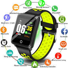 LIGE 2019 New Men Women Smart Sport Watch Fitness Tracker Pedometer Blood Pressure Heart Rate Blood oxy Monitor Smart Band+Box(China)
