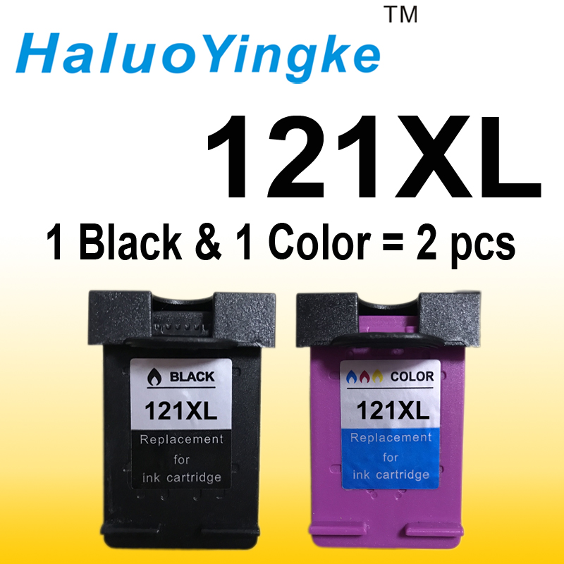 2PCS Cartridge 121 Replacement for hp 121 XL Ink Cartridge for HP Deskjet D2563 F4283 F2423 F2483 F2493 F4213 F4275 F4283 F4583 стоимость