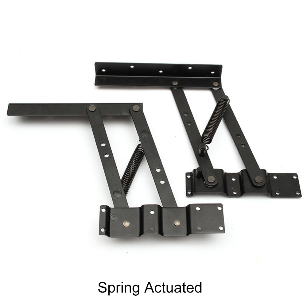 2Pcs Lift Up Top Coffee table mechanism Hardware Furniture Hinges for 30kg Table Lift and folding table hinges in Cabinet Hinges from Home Improvement