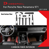 For Porsche Panamera 100% Real Carbon Fiber Interior Dashboard Trim Door Handle Armrest Cover 971 Car Styling With 3M Tape