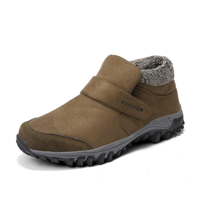 Мужские зимние ботинки Vancat, теплые ботинки на меху, обувь для работы, плисовые ботинки, 2019