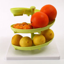 Multifunctional Spiral Fruit Egg Shelf DIY Manually Assemble Shelves Scientific Design Fruit Storage Rack Kitchen Accessories