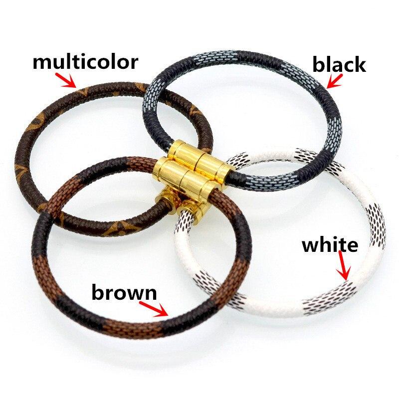 2019 offre spéciale nouvelle mode de luxe marque bijoux en acier inoxydable 316L Bracelets Bracelets en cuir pulseiras Bracelets pour femme/hommes