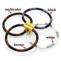 Venda quente nova moda de luxo marca jóias 316l aço inoxidável pulseiras pulseiras pulseiras de couro para mulheres/presentes masculinos