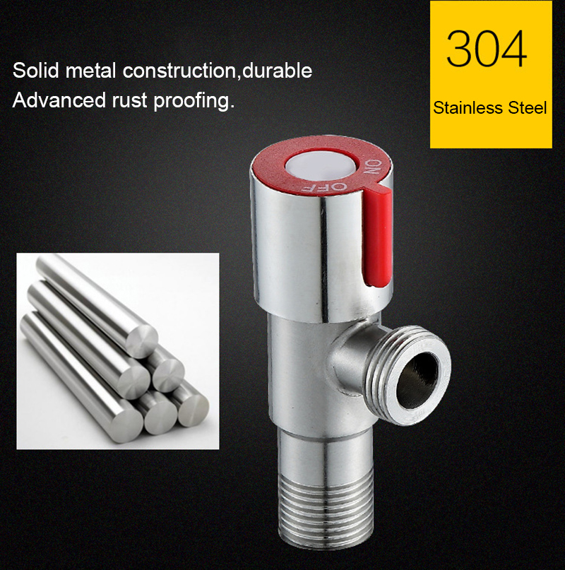 G1 2 Angle Valve SUS304 Stainless Steel Brushed Kitchen Bathroom Accessories Angle Valves for Toilet Sink BasinWater Heater in Filling Valves from Home Improvement