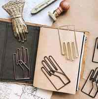 Clip de papel con letras en el hogar Clips de papel con forma de mano ideal para regalo de oficina con Clip de papel