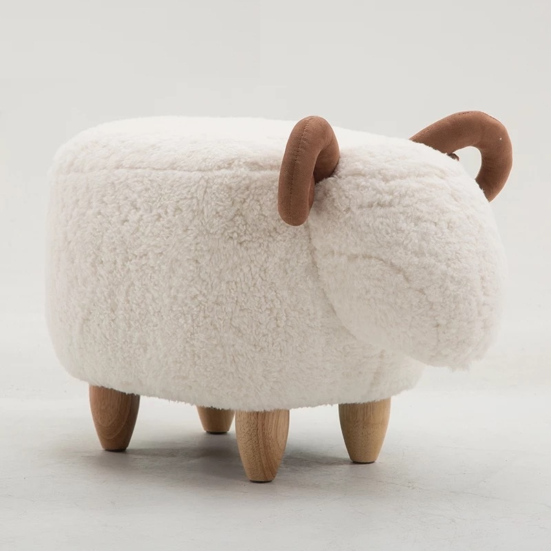 Free shipping U-BEST Canada and America market hot selling animal Shaped wood Children sheep Stool ottoman for kidsFree shipping U-BEST Canada and America market hot selling animal Shaped wood Children sheep Stool ottoman for kids