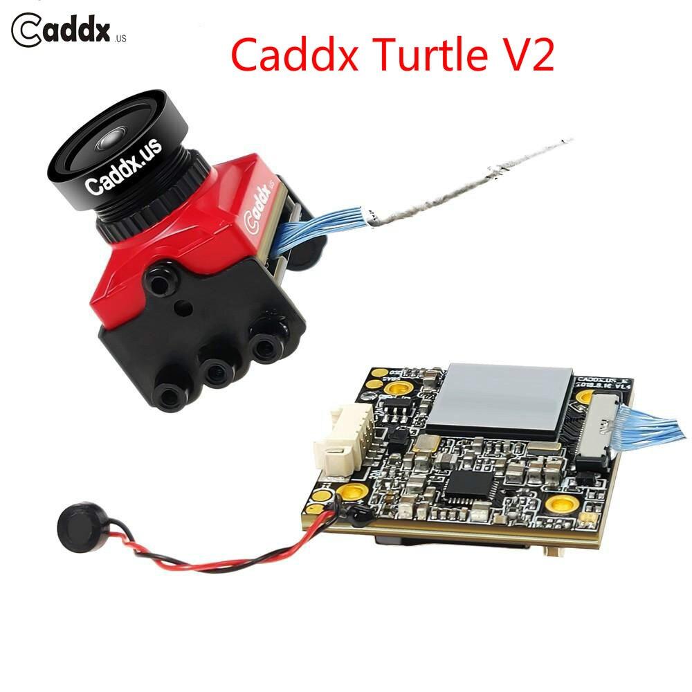 Oyuncaklar ve Hobi Ürünleri'ten Parçalar ve Aksesuarlar'de Yeni Yükseltilmiş Caddx Kaplumbağa V2 1080 P 800TVL HD FPV Kamera dahili OSD FPV Eylem Kamera RC Drone Multicopter için yarış'da  Grup 1