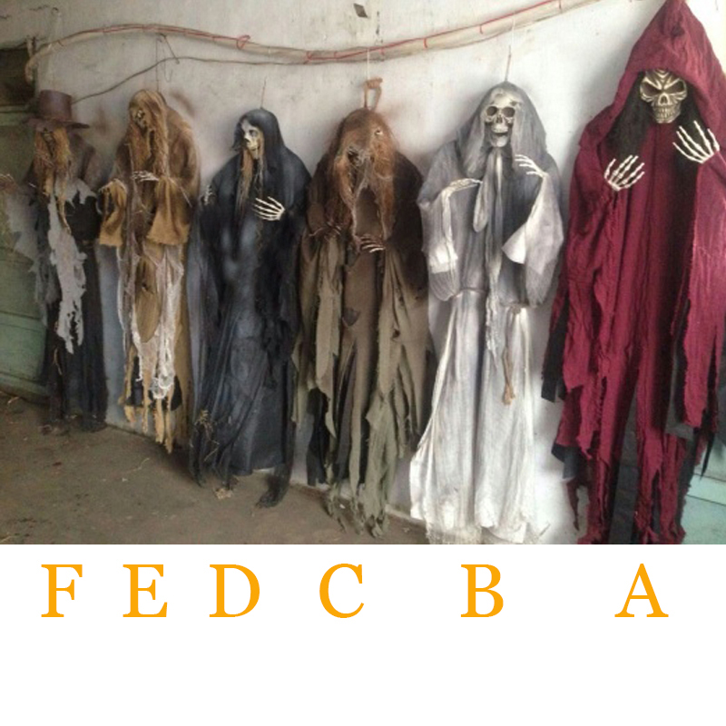 5 Feet 160cm Halloween Hanging Ghosts Haunted House Escape Horror Halloween Decorations