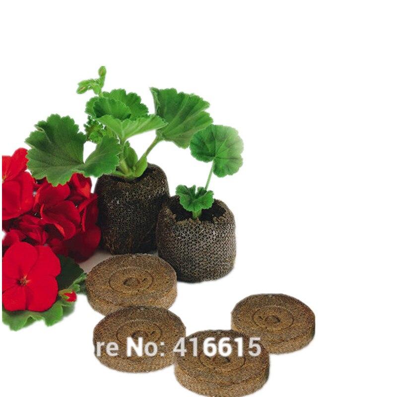 10 Telt Kwekerij Bodem Blok Tuin Bloemen Aanplant 25mm Bodem Blok Plant Zaailingen Turf Cultiveren Blok Zaad Migratie Gereedschap