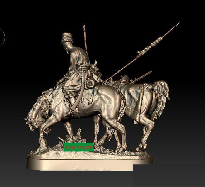 3D modell stl-format, 3D feste modell rotation skulptur für cnc-maschine Kozak, Kozac