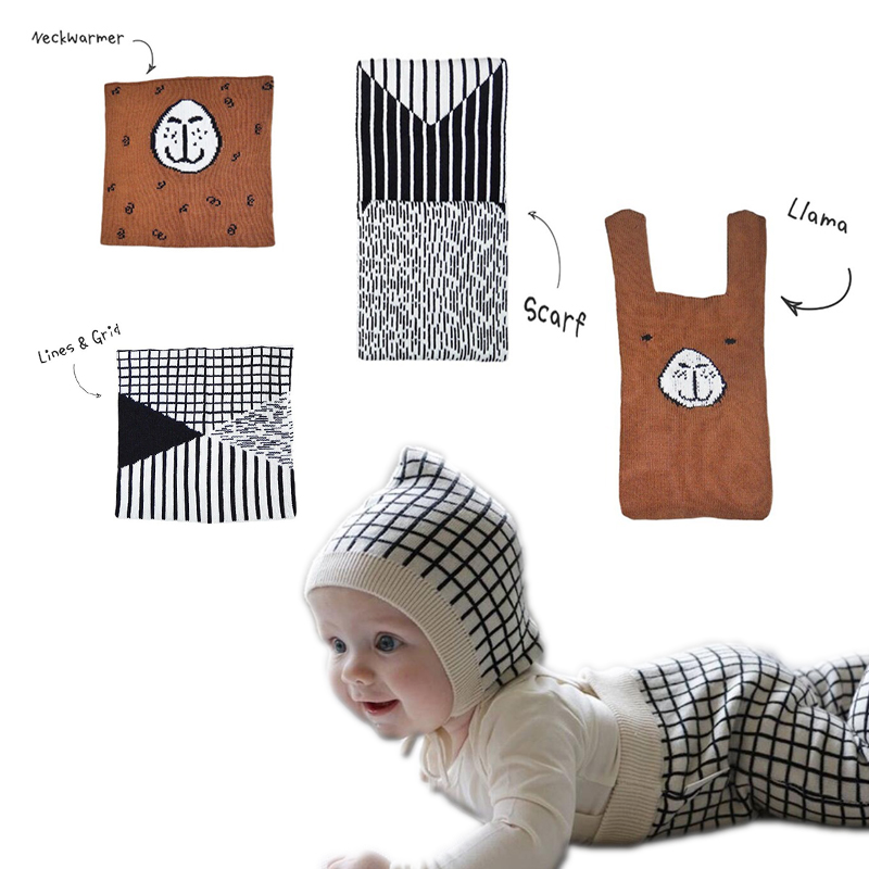 Detail Feedback Questions about Kids Scarf 2018 New Tiny Cottons Winter  Warm Infant Baby Neckerchief Fashion Cartoon Knitted Cap Hat Boys Girls  Clothes on ... 26eec62b15e