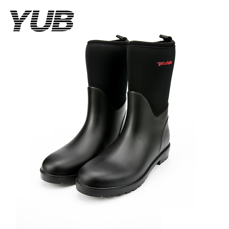 YUB Brand Ankle Short Rain Boots Women High Heels Winter ...