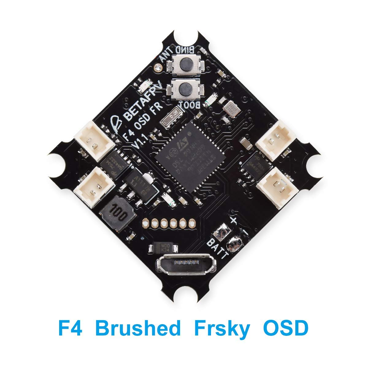 BETAFPV F4 FC Brushed Flight Controller with SPI Frsky Receiver Betaflight OSD Smart Audio for Tiny Whoop Micro Racing Drone micro minimosd minim osd mini osd w kv team mod for racing f3 naze32 flight controller