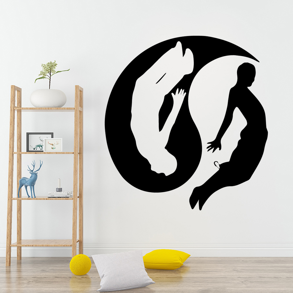 Modern Tai Chi Self Adhesive Vinyl Wallpaper Pvc Wall Decals Art Decals in Wall Stickers from Home Garden