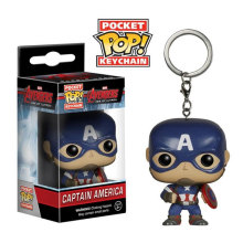 FUNKO POP Bolso Keychain Pop Captain America Action Figure Toy Presente Coleção Modelo(China)