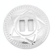 30Pcs Shoes Bag Buckles Clasps DIY Accessory Silver Tone Round Five-ponit Star Pattern 3.9cm Dia.(1 4/8
