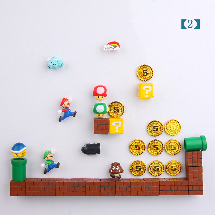 CUTEHORSE cartoon series super 3D decoration refrigerator stickers magnetic stickers message post